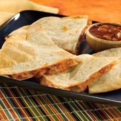 Cheesy Picante Quesadillas recipe