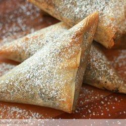 Chocolate-Mascarpone Phyllo Triangles recipe