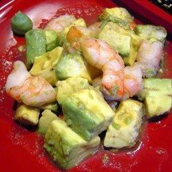 Avocado and Prawns in Wasabi