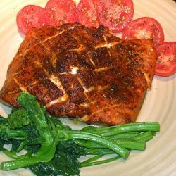 Cedar Planked Salmon With Spice Rub recipe