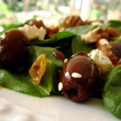 Spinach Salad With Pepper Jelly Vinaigrette recipe