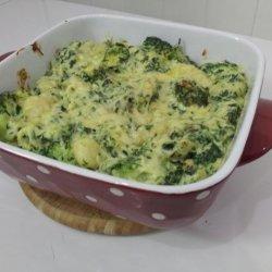 Creamy Gnocchi, Spinach and Broccoli Bake