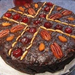 Decadently Rich Port and Chocolate Christmas Cake