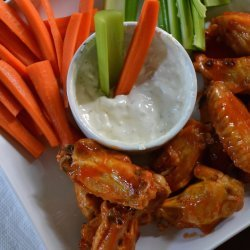Buffalo Chicken Wings With a Blue Cheese Dip