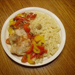 Honey-Balsamic Baked Chicken Breasts with Tomatoes, Mushrooms a