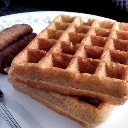 Healthy Sourdough Whole Grain Waffles and Pancakes
