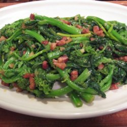 Broccoli Rabe With Garlic and Pancetta