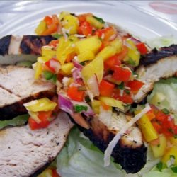 Grilled Lime-Cilantro Chicken With Mango Salsa