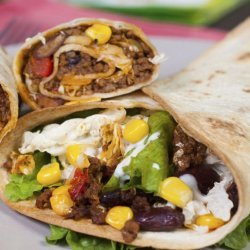 Beef and Bean burrito filling