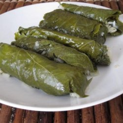 Dolmathes (Stuffed Grape Leaves) recipe