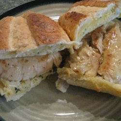 Grilled Chicken Mozzarella Sandwiches