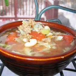 Hamburger Minestrone Soup (South Beach Diet)