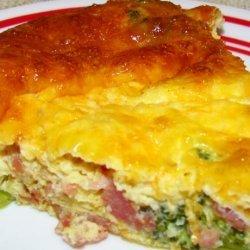 Low-Carb Crustless Ham & Broccoli Quiche