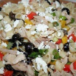 Greek-Style Chicken Pasta Salad