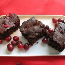 Boreal Forest Cranberry Brownies