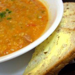 Crock Pot Lentil and Ham Soup