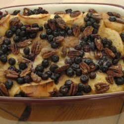 Baked Blueberry-Pecan French Toast With Blueberry Syrup recipe
