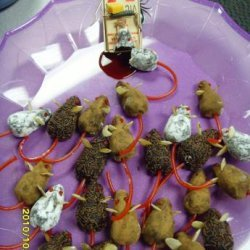 Chocolate Halloween Mice recipe