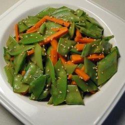 Crisp Snow Pea Salad recipe