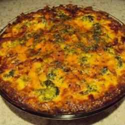Vegetarian Quiche With Potato Crust