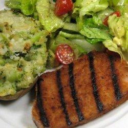 Grilled Ham Steak With Southwestern Rub recipe