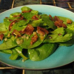 Basic Spinach Salad With Hot Bacon Dressing