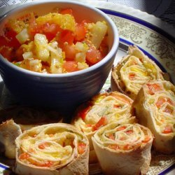 Baked Tortilla Wheels With Pineapple Salsa