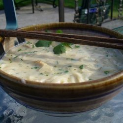 Coconut Chicken Noodle Soup With Thai Flavors