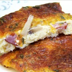 Canadian Bacon and Cheddar Cheese Flan