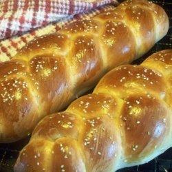Braided Challah Bread (Bread Machine)