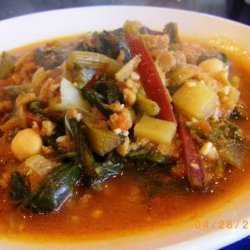 Portuguese Chourico and Kale Soup (Adapted from Rachael Ray)