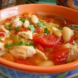 Slow Cooker Chicken, Tomato and White Bean Soup