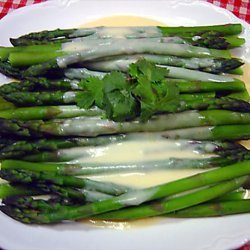 Asparagus With Cheese Sauce recipe