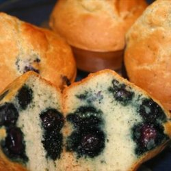 The No-Fat Blueberry Muffins Recipe