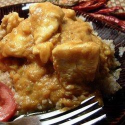 Curried Chicken in Coconut - Pumpkin Sauce
