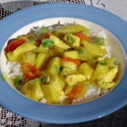 Caribbean Mini Banana and Pineapple Curry
