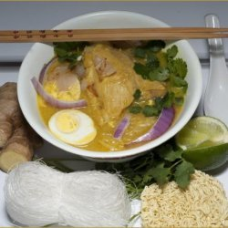 Ohn-No-Kauk-Swe (Burmese Chicken Soup)