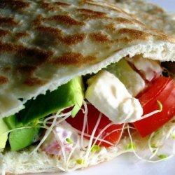 Pita Salad Sandwiches With Tahini Sauce