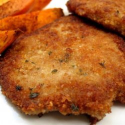 Pork With Parmesan Coating Schnitzel