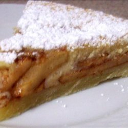 Tarte Aux Pommes (French Apple - Custard Tart) recipe