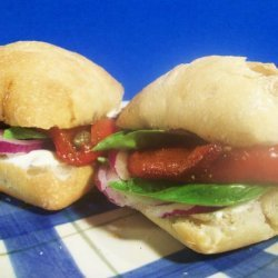 Barefoot Contessa's Roasted Pepper and Goat Cheese Sandwiches