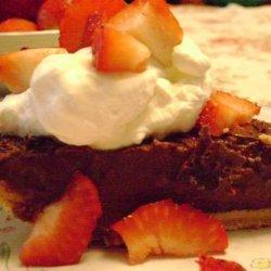 Dark Chocolate Pudding Pie recipe