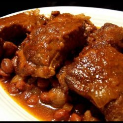 Spicy-Sweet Ribs and Beans Crock Pot