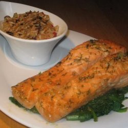 Uncle Bill's Salmon Marinated in Maple Syrup and Soy Sauce