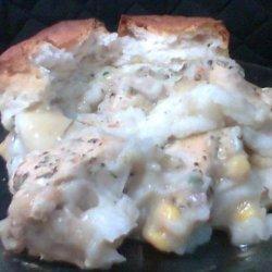 Chicken, Potato, and Biscuit Casserole Dish