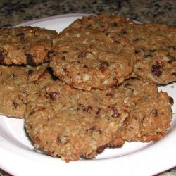 Peanut Butter and Chocolate Chunk Oat Cookies (No Flour)