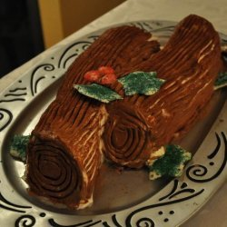 Chocolate Christmas Log (Cookie Cake)