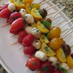 Fresh Caprese Vegetable Kabobs recipe