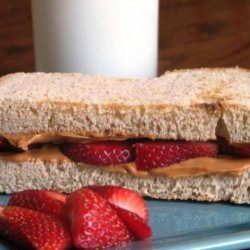 Peanut Butter Fruit Sandwich