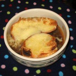 Soup a L'oignon  (French Onion Soup)